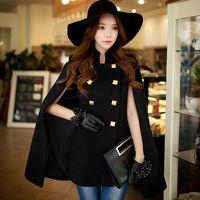 Rosa boneca 2016 inverno nova coreano dupla breasted casaco fino casaco de lã D15DCO052