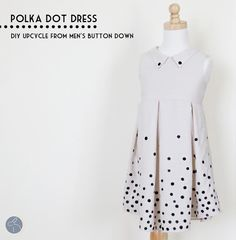 Me Sew Crazy: Tutorial - Polka Dot Dress Upcycle :) @Jess Abbott > Sewing Rabbit