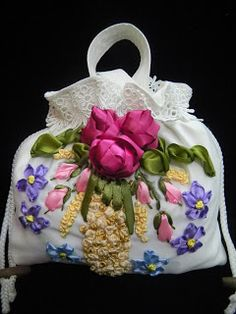 Shima Hasim The Art of Embroidery and Needlework: Pouch bag