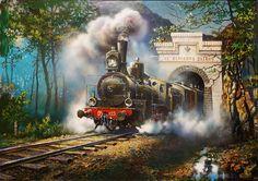 artist Sorokin Yuri, The Transbaikalian railway