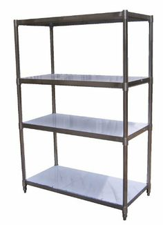 """Vestil SSS-2448 Stainless Steel Shelving with 4 Adjustable Shelves, 48"""" Length, 24"""" Width Shelf, 74"""" Height, 600 lbs Capacity per Shelf by Vestil. $1214.00. Vestil stainless steel shelving with 4 adjustable shelves, Provide easy access to stored items from all sides. High-quality stainless steel construction is ideal for the commercial or industrial use. Each model includes four adjustable shelves ideal for different height products. Shelves are 18 gauge thick and hold up t..."""