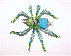 Shimmer - beaded spider - jewelry