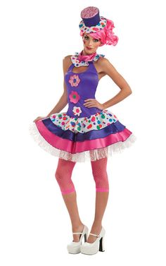 Jellybean Adult Colourful Clown Costume | Costume Crazy