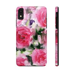 Mari Pink Rose Floral Print Designer Case Mate Tough Phone Cases-Made – Heidi . Rose Phone Case, Phone Cases Samsung Galaxy, Iphone Phone Cases, Phone Cover, Transfer Paper, 6s Plus, Flower Prints, Designer, Print Design