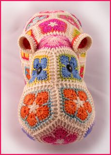 Heidi Bears: Happypotamus the happy Hippo crochet Pattern available