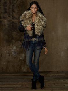 Oversized Moto Jacket - Outerwear  Women - RalphLauren.com