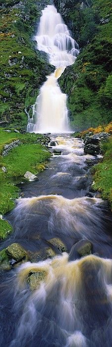 Ardara, Co Donegal, Ireland Waterfall Photograph by The Irish Image Collection - Ardara, Co Donegal, Ireland Waterfall Fine Art Prints and Posters for Sale