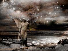 "Angel Art Photos - Celestial Angel Art - Ethereal Haunting Sepia Gothic Spiritual Angel - Surreal Angel Art Photo Print 8"" x 12"""