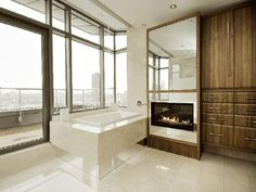 bathrooms-design-contemporary-modern-marble-architecture-fireplace
