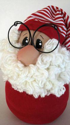 Santa Claus door stop Christmas door stop Santa Claus cloth Elf Christmas Decorations, Wood Christmas Tree, Christmas Door, Santa Crafts, Christmas Projects, Christmas Crafts, Christmas Accessories, Santa Ornaments, Homemade Christmas