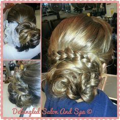 Check out these #beautiful #updos by #stylist Donna for one of her many #wedding #party ventures!