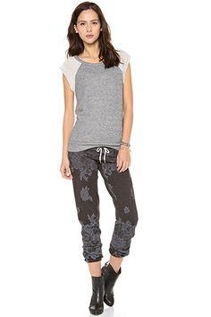 Monrow Lace Print Vintage Sweatpants, $135, available at Shopbop.