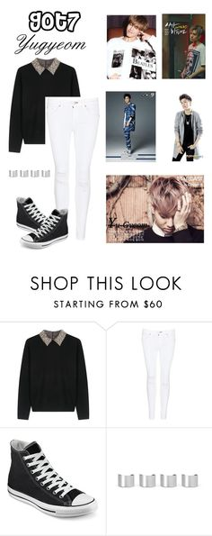 """Got7 Yugyeom"" by koreanclothes ❤ liked on Polyvore featuring Alice + Olivia, rag & bone/JEAN, Converse and Maison Margiela"