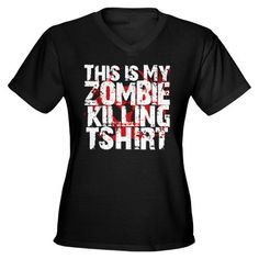 This is My Zombie Killing t-s Women's V-Neck Dark