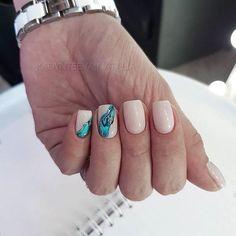 58 Chic Natural Gel Short Coffin Nails Color Ideas For Summer Nails Acrylic Summer nails color desig Cute Acrylic Nails, Cute Nails, Pretty Nails, Shellac Nails, Glitter Nails, Hair And Nails, My Nails, Bright Summer Nails, Instagram Nails