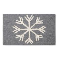 "Threshold™ Snowflake Holiday Accent Rug - Gray (1'8""x2'10"")"