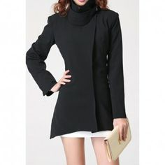 Sophisticated Style Slimming Single-Breasted Solid Color Long Sleeves Women's Trench Coat