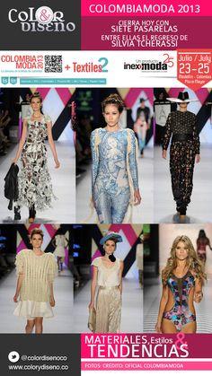 Colombiamoda 2013 cierra hoy con siete pasarelas,  entre ellas el regreso de Silvia Tcherassi.   Encontramos en las pasarelas sublimación, corte láser, pedrería y apliques, estamos a la vanguardia de la moda!!! 3d Laser, Textiles, Walkways, Fashion Trends, Appliques, Fabrics, Textile Art