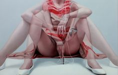Korean artist Horyon Lee utilizes the photography technique of multiple exposures to produce a sensual style of movement in his slightly scandalous oil Multiple Exposure, Double Exposure, Exposition Multiple, Illustration Arte, Spring Girl, Flirt, Exposure Photography, Colour Photography, Hyperrealism