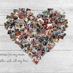 100 Pictures Family Photo Heart Collage Personalized Large Collage Wood Effect Heart Collage Canvas Photo Your Picture To Canvas Gift Heart Picture Collage, Family Photo Collages, Photo Wall Collage, Photo Canvas, Heart Collage Of Pictures, Tree Collage, Picture Frames, Funeral Posters, Toile Photo
