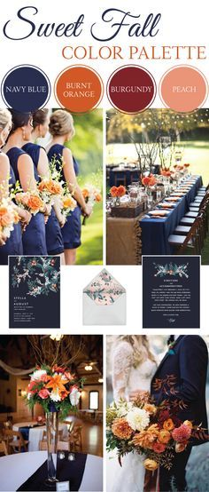Sweet Fall Wedding Color Palette | LinenTablecloth Blog