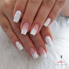 Short Coffin Nail Ideas For Spring – Page 6 of 6 – Vida Joven - Nail Art Designs 2020 Summer Acrylic Nails, Best Acrylic Nails, Spring Nails, Cute Nails For Spring, Summer Nails, Simple Nail Designs, Nail Art Designs, Sparkle Nail Designs, Silver Nail Designs