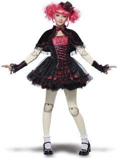 Details about California Costumes Girls Victorian Doll Phantom Monster High Costume. Tween Costumes, Halloween Costumes For Teens, Halloween Ideas, Broken Doll Halloween Costume, Marionette Costume, Cosplay Costumes, Black Tees, Halloween Makeup Clown, Girl Halloween