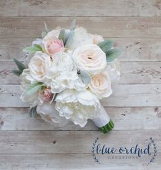 Peony Bouquet Wedding Bouquet Silk Bouquet by blueorchidcreations #weddingbouquets