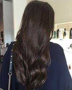 Ziemlich Dunkle Schokolade Farbige Lange Frisuren