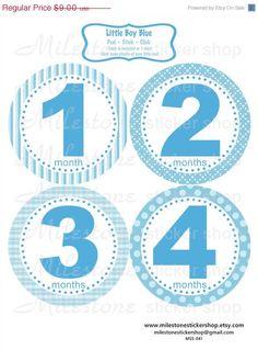 Little Boy Blue Monthly Milestone Stickers for Baby by MilestoneStickerShop • $9.00