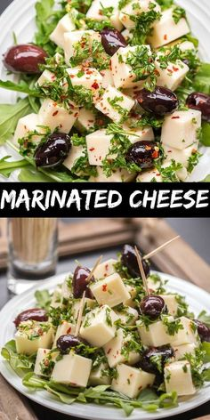 Marinated Cheese Appetizer Recipe – Let the Baking Begin! Cubed Darigold White Cheddar Cheese with Parsley, Garlic, Red Pepper Flakes and Olives – great for parties and get-togethers as an appetizer or as part of your cheeseboard. Cheese Appetizers, Best Appetizers, Appetizer Recipes, Salad Recipes, Snack Recipes, Cooking Recipes, Marinated Cheese, Antipasto Platter, Easy Party Food