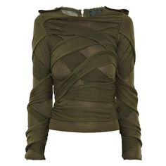 I love how apocalyptic this looks - Burberry Prorsum Silk And Merino Wool-Blend Sweater Brown Long Sleeve Shirt, Long Sleeve Sweater, Long Sleeve Tops, Apocalypse Fashion, Mode Steampunk, Dystopian Fashion, Post Apocalyptic Fashion, Burberry Shirt, Burberry Prorsum
