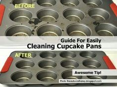 Cleaning cup cake pans