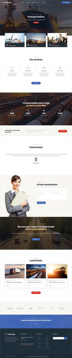 Translogic is a stylish and powerful #WordPress theme with high-class #business design perfect for #transportation, logistics, trucking, warehousing and freight services website download now➩ https://themeforest.net/item/translogic-logistics-transportation-wp-theme/19329142?ref=Datasata