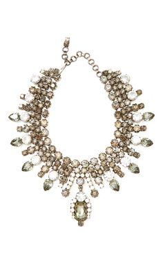 Shop Alan Anderson Crystal Bib Necklace by Carole Tanenbaum Now Available on Moda Operandi