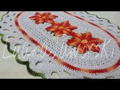 Como fazer um Lindo tapete com a flor estrela do mar passo a passo / Cristina coelho alves - YouTube