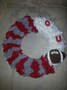 Ohio State Buckeyes Wreath. Made by Megan