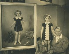Shirley Temple with famed portrait artist, Tino Costa. See this portrait and so much more in traveling exhibits before being auction by Theriault's on July 14, 2015. http://www.theriaults.com