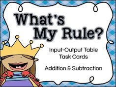 Function Tables - Addition & Subtraction