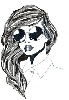 """This print uses line as an element of design. The curved lines allow for a """"sense of flow and directionality"""" making it seem almost natural for the eye to follow. This is most apparent in the woman's hair, as it promotes a """"sleek and stylish"""" appeal."""