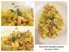 Straccetti di pollo e patate al curry e timo http://cuciniamo.mammeonline.net/straccetti-di-pollo-e-patate-al-curry-e-timo/