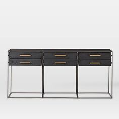 "TOO BIG for behind couch. 78.5""w x 16""d x 36""h. R1300 Highland Console #westelm"