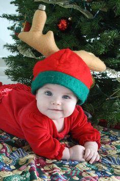 reno navideño sesión bebe