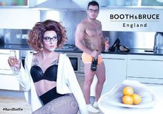 Autumn winter 2014 poster campaign featuring the brilliant Vicki Vivacious (Aaron Johns) and the gorgeous Iggy Lopez.  Photography by Gaz Sherwood  Vicki wears BB1406 raspberry dream Iggy wears BB1402 slate