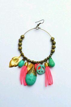 Hippie Chic, Boho Chic, Lobe, Glitz And Glam, Jewelry Trends, Earrings Handmade, Tassel Necklace, Turquoise Bracelet, Jewelry Design