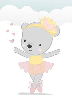 Micro Creche, Animal Cushions, Ballerina Birthday Parties, Art Drawings For Kids, Balerina, Baby Decor, Hello Kitty, Cute Animals, Bunny