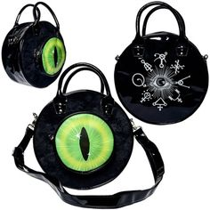 Kreepsville - EYEBALL BAG BLACK CAT