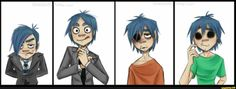 gorillaz, 2d, stuart, tusspot, dents