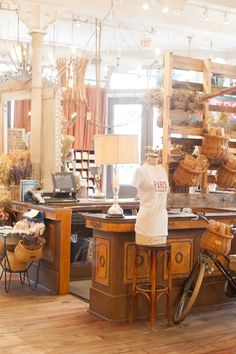 Retail Store Design - The Paris Market, a Savannah shop offering a wide variety of wares