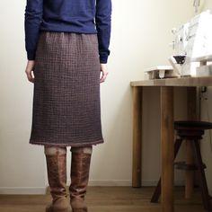 ウールガーゼのスカート